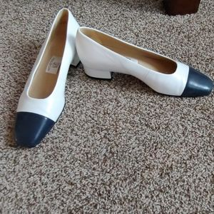 Gently worn navy toe shoes